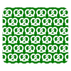 Green Pretzel Illustrations Pattern Double Sided Flano Blanket (Small)