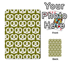 Olive Pretzel Illustrations Pattern Multi Purpose Cards (rectangle)