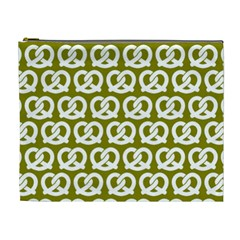 Olive Pretzel Illustrations Pattern Cosmetic Bag (XL)