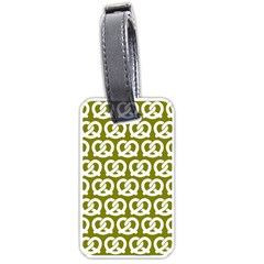 Olive Pretzel Illustrations Pattern Luggage Tags (Two Sides)