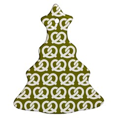 Olive Pretzel Illustrations Pattern Christmas Tree Ornament (2 Sides)