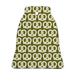 Olive Pretzel Illustrations Pattern Bell Ornament (2 Sides)