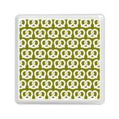 Olive Pretzel Illustrations Pattern Memory Card Reader (Square)