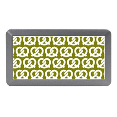 Olive Pretzel Illustrations Pattern Memory Card Reader (mini)