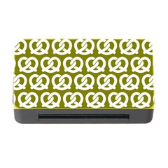 Olive Pretzel Illustrations Pattern Memory Card Reader with CF