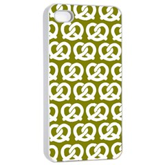 Olive Pretzel Illustrations Pattern Apple iPhone 4/4s Seamless Case (White)
