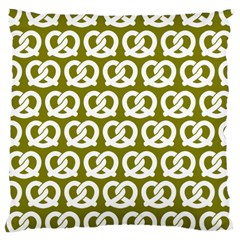 Olive Pretzel Illustrations Pattern Large Cushion Cases (Two Sides)