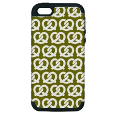 Olive Pretzel Illustrations Pattern Apple iPhone 5 Hardshell Case (PC+Silicone)