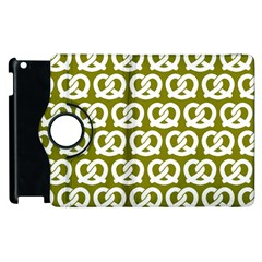 Olive Pretzel Illustrations Pattern Apple Ipad 2 Flip 360 Case