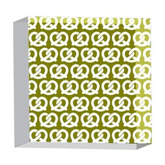 Olive Pretzel Illustrations Pattern 5  x 5  Acrylic Photo Blocks