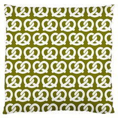 Olive Pretzel Illustrations Pattern Standard Flano Cushion Cases (Two Sides)