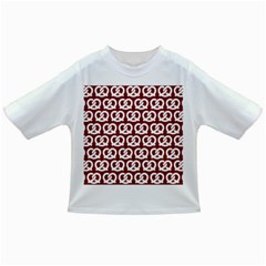 Red Pretzel Illustrations Pattern Infant/toddler T Shirts