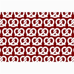 Red Pretzel Illustrations Pattern Collage 12  x 18