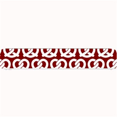 Red Pretzel Illustrations Pattern Small Bar Mats