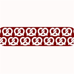 Red Pretzel Illustrations Pattern Large Bar Mats