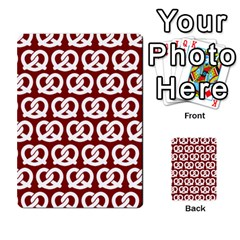 Red Pretzel Illustrations Pattern Multi Purpose Cards (rectangle)