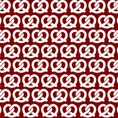 Red Pretzel Illustrations Pattern Magic Photo Cubes