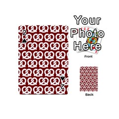 Red Pretzel Illustrations Pattern Playing Cards 54 (mini)