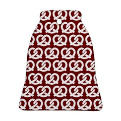 Red Pretzel Illustrations Pattern Ornament (Bell)