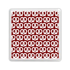 Red Pretzel Illustrations Pattern Memory Card Reader (Square)