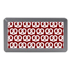 Red Pretzel Illustrations Pattern Memory Card Reader (Mini)