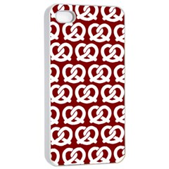 Red Pretzel Illustrations Pattern Apple Iphone 4/4s Seamless Case (white)