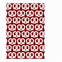 Red Pretzel Illustrations Pattern Small Garden Flag (two Sides)
