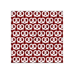 Red Pretzel Illustrations Pattern Acrylic Tangram Puzzle (4  x 4 )