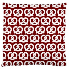 Red Pretzel Illustrations Pattern Large Cushion Cases (Two Sides)