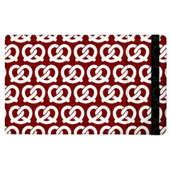 Red Pretzel Illustrations Pattern Apple iPad 3/4 Flip Case