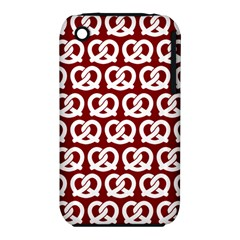 Red Pretzel Illustrations Pattern Apple Iphone 3g/3gs Hardshell Case (pc+silicone)