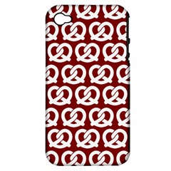 Red Pretzel Illustrations Pattern Apple iPhone 4/4S Hardshell Case (PC+Silicone)