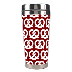 Red Pretzel Illustrations Pattern Stainless Steel Travel Tumblers