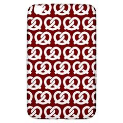 Red Pretzel Illustrations Pattern Samsung Galaxy Tab 3 (8 ) T3100 Hardshell Case