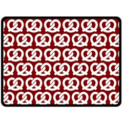 Red Pretzel Illustrations Pattern Double Sided Fleece Blanket (Large)
