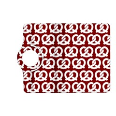 Red Pretzel Illustrations Pattern Kindle Fire HD (2013) Flip 360 Case