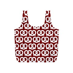 Red Pretzel Illustrations Pattern Full Print Recycle Bags (S)