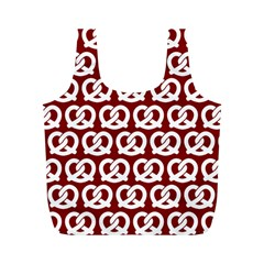 Red Pretzel Illustrations Pattern Full Print Recycle Bags (M)
