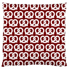 Red Pretzel Illustrations Pattern Large Flano Cushion Cases (one Side)