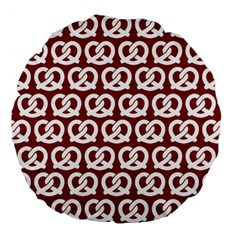 Red Pretzel Illustrations Pattern Large 18  Premium Flano Round Cushions