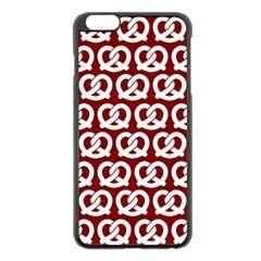 Red Pretzel Illustrations Pattern Apple iPhone 6 Plus/6S Plus Black Enamel Case