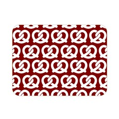 Red Pretzel Illustrations Pattern Double Sided Flano Blanket (Mini)