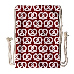 Red Pretzel Illustrations Pattern Drawstring Bag (Large)