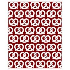 Red Pretzel Illustrations Pattern Drawstring Bag (Small)
