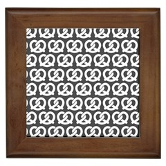 Gray Pretzel Illustrations Pattern Framed Tiles