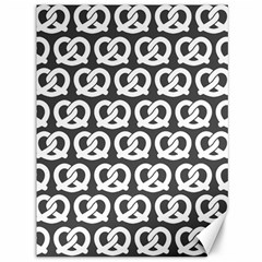 Gray Pretzel Illustrations Pattern Canvas 36  X 48