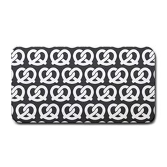 Gray Pretzel Illustrations Pattern Medium Bar Mats