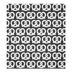 Gray Pretzel Illustrations Pattern Shower Curtain 66  x 72  (Large)