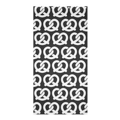 Gray Pretzel Illustrations Pattern Shower Curtain 36  x 72  (Stall)