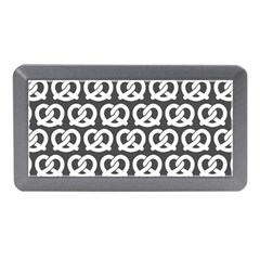 Gray Pretzel Illustrations Pattern Memory Card Reader (Mini)